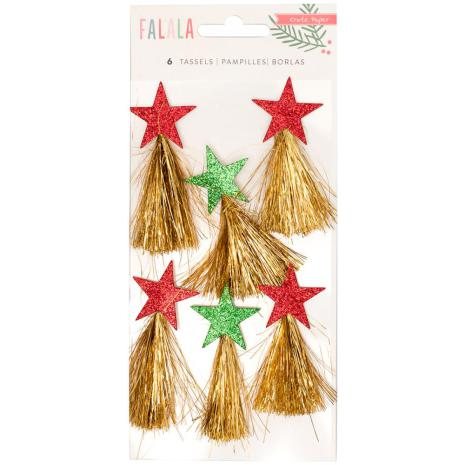 Crate Paper Tinsel Tassels 6/Pkg - Fa La La