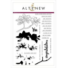 Altenew Clear Stamp And Die Build A flower - Magnolia