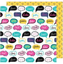 Shimelle Glitter Girl Double-Sided Cardstock 12X12 - Talk It Up