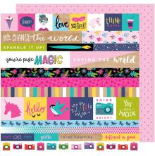 Shimelle Glitter Girl Double-Sided Cardstock 12X12 - For The Win