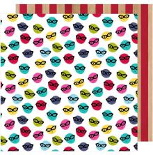 Shimelle Glitter Girl Double-Sided Cardstock 12X12 - Go Incognito