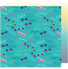 Shimelle Glitter Girl Double-Sided Cardstock 12X12 - Keep Your Cool