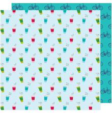Shimelle Glitter Girl Double-Sided Cardstock 12X12 - Stay Warm