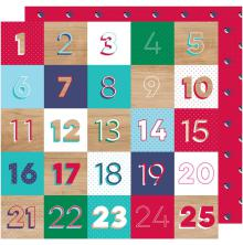Shimelle Glitter Girl Double-Sided Cardstock 12X12 - Countdown