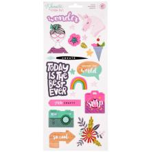 Shimelle Stickers 6X12 - Glitter Girl Accent & Phrase
