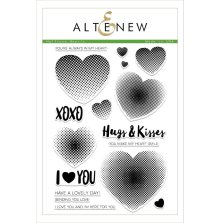 Altenew Clear Stamps 6X8 - Halftone Hearts