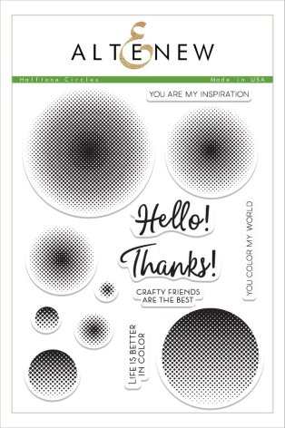 Altenew Clear Stamps 6X8 - Halftone Circles