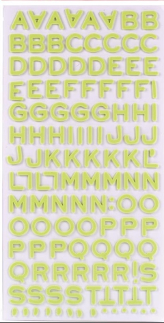 American Crafts Thickers Foam Stickers 2/Pkg - Fantastic Limeade