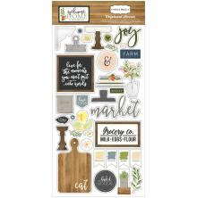 Carta Bella Chipboard Accents 6X13 - Welcome Home