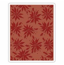 Tim Holtz Sizzix Texture Fades Embossing Folders - Poinsettias