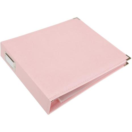 We R Memory Keepers Classic Leather D-Ring Album 12X12 - Pretty Pink