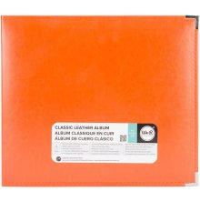 We R Memory Keepers Classic Leather D-Ring Album 12X12 - Orange Soda