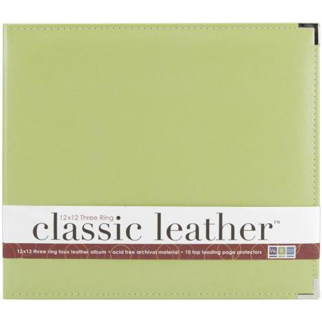 We R Memory Keepers Classic Leather D-Ring Album 12X12 - Kiwi
