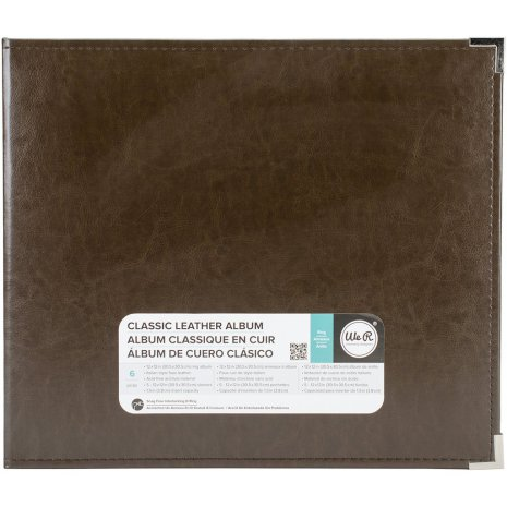 We R Memory Keepers Classic Leather D-Ring Album 12X12 - Dark Chocolate