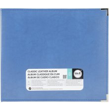 We R Memory Keepers Classic Leather D-Ring Album 12X12 - Country Blue