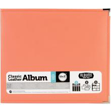 We R Memory Keepers Classic Leather D-Ring Album 12X12 - Coral