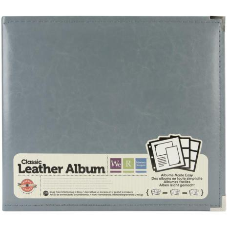 We R Memory Keepers Classic Leather D-Ring Album 12X12 - Charcoal
