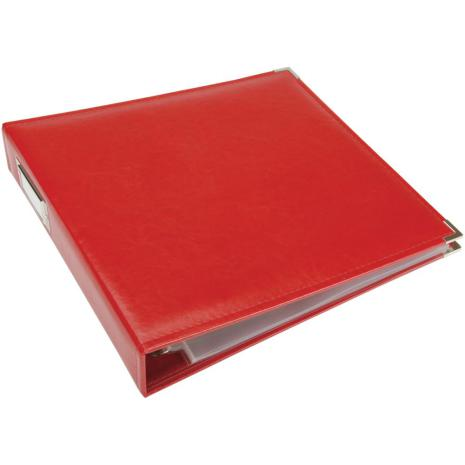 We R Memory Keepers Classic Leather D-Ring Album 12X12 - Real Red