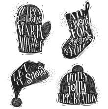 Tim Holtz Cling Stamps 7X8.5 - Carved Christmas 1