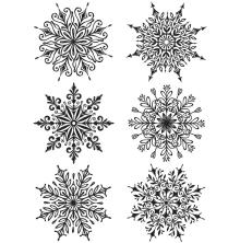 Tim Holtz Cling Stamps 7X8.5 - Swirly Snowflakes