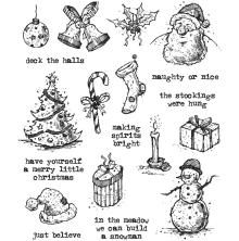 Tim Holtz Cling Stamps 7X8.5 - Tattered Christmas