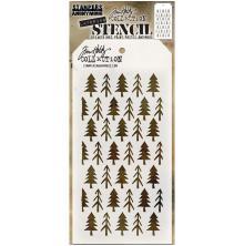 Tim Holtz Layered Stencil 4.125X8.5 - Pines