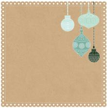 Kaisercraft Mint Wishes Die-Cut Cardstock 12X12 - Gingerbread Cookie UTGÅENDE