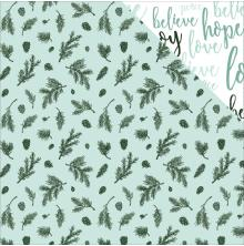 Kaisercraft Mint Wishes Double-Sided Cardstock 12X12 - Spearmint UTGÅENDE