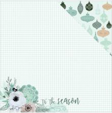 Kaisercraft Mint Wishes Double-Sided Cardstock 12X12 - Flannelette UTGÅENDE