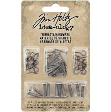 Tim Holtz Idea-Ology Vignette Hardware Pack - Hooks, Nails, Screw Eyes & Long Screws