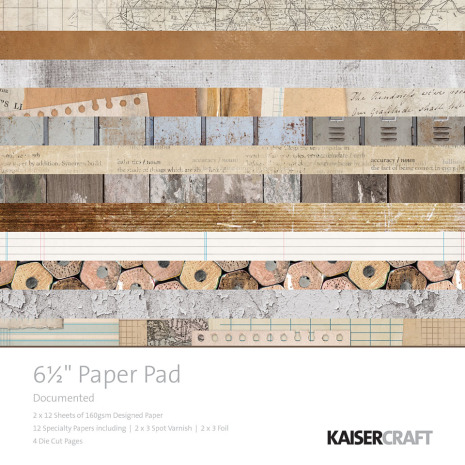Kaisercraft Paper Pad 6.5X6.5 40/Pkg - Documented