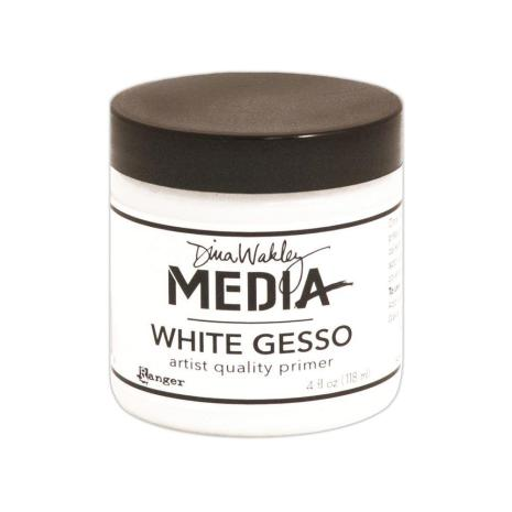 Dina Wakley Media Gesso 118ml Jar - White