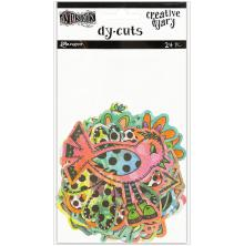 Dylusions Creative Dyary Die Cuts - Colored Birds & Flowers
