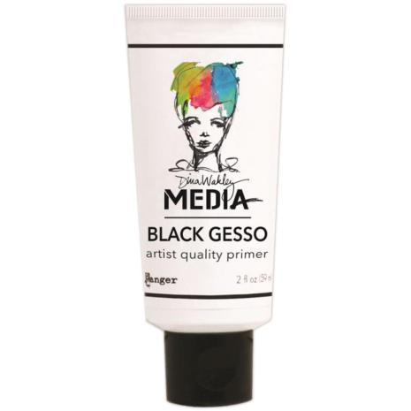 Dina Wakley Media Gesso 59ml Tube - Black