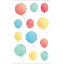 Mrs. Grossmans Watercolor Stickers 4X6.5 - Balloons Strips