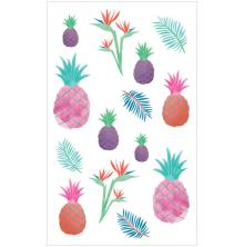 Mrs. Grossmans Watercolor Stickers 4X6.5 - Watercolor Pineapples