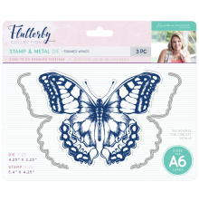 Sara Davies Flutterby Stamp & Die Set - Framed Wings