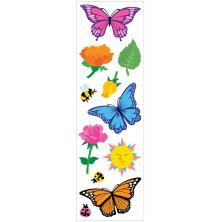 Mrs. Grossmans Stickers 2X6.5 3/Pkg - Butterflies & Flowers Strips