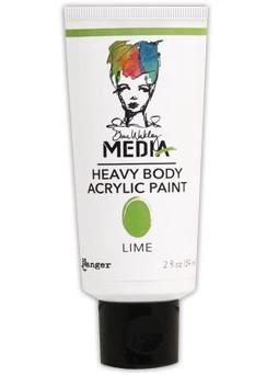 Dina Wakley Media Heavy Body Acrylic Paint 59ml - Lime