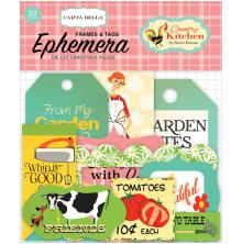 Carta Bella Ephemera Cardstock Die-Cuts - Country Kitchen Frames & Tags