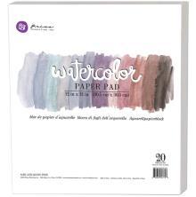 Prima Watercolor Paper Pad 12X12 20/Pkg