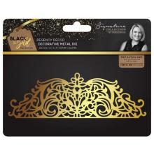 Sara Davies Black & Gold Metal Die - Regency Decor