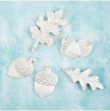 Prima Shabby Chic Treasures Resin Embellishments 5/Pkg - Fall