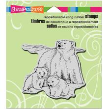 Stampendous Cling Stamp 4.75X4.5 - Polar Bear Play
