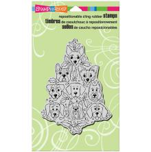 Stampendous Cling Stamp 7.75X4.5 - Dog Tree