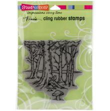 Stampendous Cling Stamp 6.5X4.5 - Robin Woods
