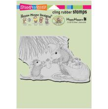 Stampendous House Mouse Cling Stamp 6.5X4.5 - Gift Giving