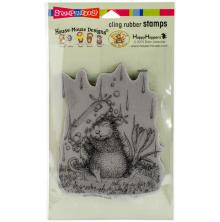 Stampendous House Mouse Cling Stamp 7.75X4.5 - Soapy Smile