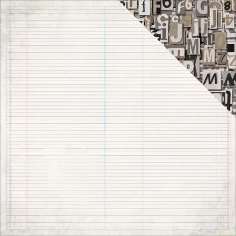 Kaisercraft Documented Double-Sided Cardstock 12X12 - Notebook Ledger