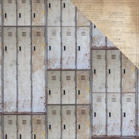 Kaisercraft Documented Double-Sided Cardstock 12X12 - Lockers